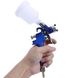 H-2000 Pistola a spruzzo HVLP professionale 0.8mm / 1.0mm Ugello Pistola a spruzzo Mini Air Paint per aerografo Decor in Offerta