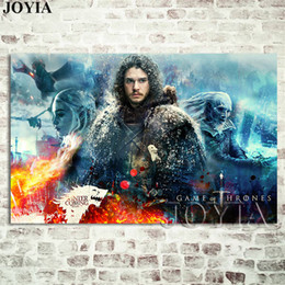snow spray wholesale NZ - Season 7 Wall Poster Jon Snow Prints The Wall Decoration Picture A Song of Ice and Fire TV Canvas Art