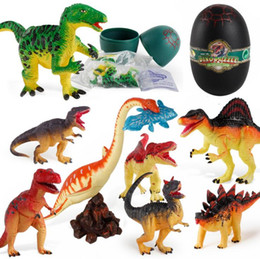 Discount dino toys DIY 3D Jurassic Dinosaurs Puzzle Egg Toys In Dino Egg For kids Children Education toy