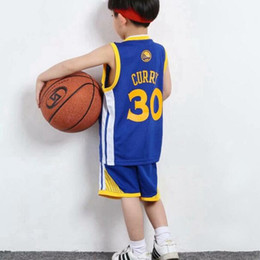 Wholesale Curry James Kobe Kids Clothing Sets Boys Girls Sports Sets Children Basketball sports suits T Shirts Shorts Kids Clothes cm XZT034