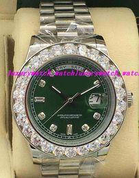 Brand Luxury Style Watch Australia - Luxury Watches 2 Style Mens Green Dial Bigger Diamond Bezel 118348 WATCH CHEST 41mm Automatic Fashion Brand Men's Watch Wristwatch