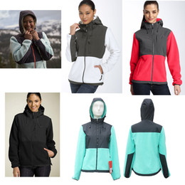 Wholesale ski fleece tops for sale – winter Top Quality Winter Women Fleece Hoodies Jackets Camping Windproof Ski Warm Down Coat Outdoor Casual Hooded SoftShell Sportswear Black S XXL