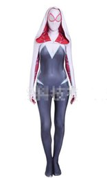 Funny Woman Costumes Canada - Gwen female spider cos women costume Spider-Gwen Lycra Spandex Full Body Zentai Catsuit
