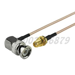 straight cables NZ - 1ft 30cm RF BNC male Plug Right Angle to SMA Jack female bulkhead Straight RG316 Pigtail Cable Antenna Feeder cable assembly