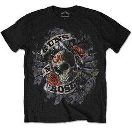 Официальный Guns N Roses-огневая мощь-мужская черная футболка импорт США