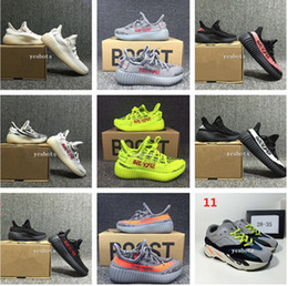 Wholesale 2018 best Baby Kids Run Shoes Kanye West SPLY Running Shoes V2 Children Athletic Shoes Boys Girls Beluga Sneakers Black Red