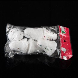 Wholesale Bell Housing NZ - 6 pcs  lot Christmas decorations Christmas snow bell New Year Decorations for House