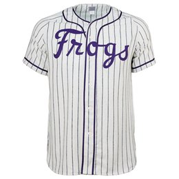 Texas Baseball UK - Texas Christian University 1963 Home Jersey Double Stiched Name & Number & Logos Baseball Jersey For Men Women Youth Customizable