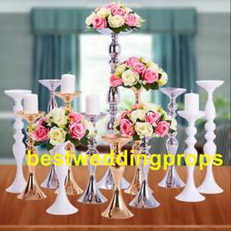 $enCountryForm.capitalKeyWord Australia - Slim metal flower vase , trumpet vases centerpieces for wedding & event decoration best0178