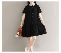 0dab3a570e0 Mori Girl Short Sleeve Summer Dresses Mesh Peter Pan Collar Pleated Hem  Patchwork Artsy Woman Dress