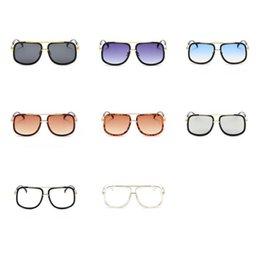 06cc8d6d2a Square Plain Glass Spectacles Metal Full Frame Sun Glasses For Men And Women  Sunglasses Factory Direct Sale 14fd B