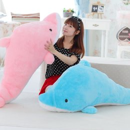 $enCountryForm.capitalKeyWord Canada - Dorimytrader Huge Soft Sea Animals Dolphins Plush Toy Lovely Large Cartoon Dolphin Doll Pillow for Lover Kids Gift 200cm DY60446