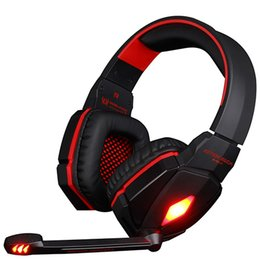 Chinese  2019 KOTION EACH G4000 Stereo Gaming Headphone with LED Lights For Computer Laptop PC Adjustable Microphone Games Headset manufacturers
