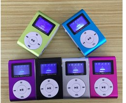 Wholesale MP3 metal iron clip MP3 player with a screen Clip Card
