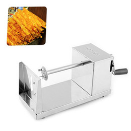 potato tornado 2018 - tornado Commercial French Fry Stainless Steel Spiral Slicer Twist Chips Making Machine Tornado Potato Cutter Peeler chea