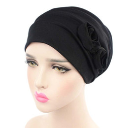 New Nice Flower Women Chemo Strech Turban Headwear Scarf Beanie Cap Wrap Hat for Cancer Patient