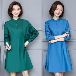 $enCountryForm.capitalKeyWord NZ - 2018 new spring large size women obese women in the long section of single breasted collar loose long sleeved shirt dress