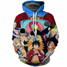 one size clothes UK - Newest Fashion Anime One Piece Luffy Cartoon Funny 3d Print Hoodies Fashion Clothing Women Men Sweatshirt Hoodies Casual Pullovers K67