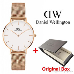 Japanese dress buckle online shopping - 2019 Brand Rose Gold Quartz Watch Daniel Luxury watches mm and mm Men s Casual Japanese DW Watch Stainless Steel Mesh Clock Ladies