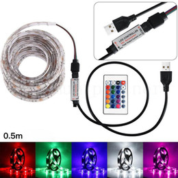 $enCountryForm.capitalKeyWord NZ - 5050RGB Colour Changing+Remote Control 50-200CM USB LED Strip Light TV Back Lamp Day White Warm White Blue RGB Bicycle Strip