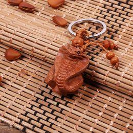 $enCountryForm.capitalKeyWord Australia - Free Shipping Carved jujube wood stereo key buckle GIFT PENDANT twelve zodiac dragon tiger for BYD F3 F0 S6 L3 F3R G3