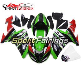 Carénages pour Kawasaki Ninja ZX-10R ZX10R 2006 2007 06 07 Sportbike ABS Carénage de moto Carénages Carénages Vert Rouge Brillant Noir Coques
