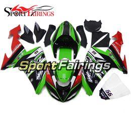 Carenagens para Kawasaki Ninja ZX10R ZX10R 2006 2007 06 07 Sportbike ABS Motocicleta Fairing Kit Carrocerias Carenagens Green Red Gloss Black Hulls