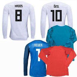 36bc8f2057a 2018 2019 NEUER HUMMELS KROOS OZIL REUS MULLER Germany Long sleeve Soccer  Jersey 18 19 goalkeeper football shirt