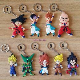 $enCountryForm.capitalKeyWord NZ - 20pcs lot Anime Dragon Ball Z Figures Son Goku Super Saiyan PVC phone Keychain Toys Dragonball Figuras Key Bag Pendants Dolls