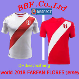 4154e962474 Thailand 2018 national soccer jersey football jerseys custom name number  peru GUERRERO jersey FARFAN FLORES world cup 2018 football shirts