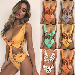 d598f04724c Orange cut Out swimsuit online shopping - Sexy Push Up Printing Swimsuit  Swimwear Women Bodysuit High