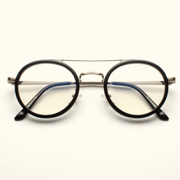 622296e95c 2018 Rushed Glasses Gafas Korean Version Of Personality Double Beam Metal Spectacle  Frame And Leisure Retro Artistic Round Flat