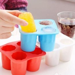 $enCountryForm.capitalKeyWord NZ - 4-Cup Ice Cube Shot Shape Silicone Shooters Glass Freeze Molds Maker Tray Party Bar Tools Ice Shot Glass Mold CCA9460 100pcs