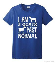 Venta al por mayor de 2018 Moda casual streetwear I am 2 Goats Past Normal Funny Pet Goat Camiseta para mujer Nueva marca de ropa casual