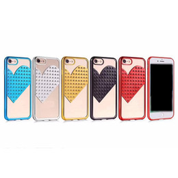 Luxury Heart Chromed Soft TPU Case For Iphone X 8 7 Plus 6 6s Spot Bling  Love Metallic Plating Silicone Cover Clear Cell Phone Skin 2018 ccf4ec9bb92d