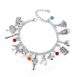 $enCountryForm.capitalKeyWord NZ - MQCHUN Snow White Charm Bracelet Fashion Once Upon a Time Fairy Tale Jewelry Pendant Crystal Bead Bangle Bracelet For Women Girl