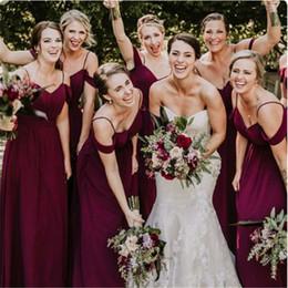 Plus Size Wedding Dresses Dark Purple Australia - Purple Off-Shoulder Bridemaid Dress Wedding Bridesmaid Dresses Robes Cheap Plus Size Formal Dresses robes de demoiselle d'honneur