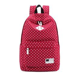 Red Polka Dot Backpack Australia - Polka Dot School Shoulder Canvas Backpack Bag Travel Rucksack Large Capcity Backpack Student BackpacRiding Daypack Stachel-12