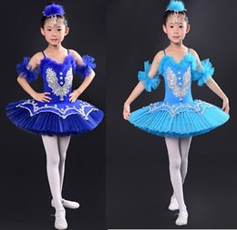 ballerina tutu kids UK - Professional White Swan Lake Ballet Tutu Costume Girls Children Ballerina Dress Kids Ballet Dress Dancewear Dance Dress For Girls Blue 001