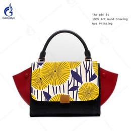 $enCountryForm.capitalKeyWord Canada - 2018 Famous Brand Designer Women Handbag Genuine Leather Luxury Chrysanthemum Pattern Female Shoulder Messenger Bags Trapeze Bag