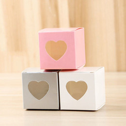 Earth Solid Canada - Beautiful Simple Party Candy Boxes Papercard Solid Color with Heart Decorations Wedding Birthday Baby Shower Gift Boxes for Guests