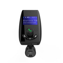$enCountryForm.capitalKeyWord UK - T30 Bluetooth Car Kit Handsfree Set FM Transmitter MP3 Music Player 2 USB Charger With Switch, Support U disk & Micro SD