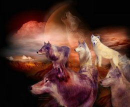 $enCountryForm.capitalKeyWord Australia - Modern Contemporary Fantasy Wolf Animal Art Abstract Oil Painting Giclee Print On Canvas Wall Art For Living Room Home Poster Decor MY481