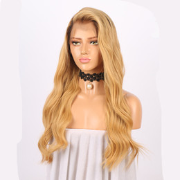 blonde human lace fronts UK - Lace Front Wigs Brazilian Human Hair Ombre 1B 27 Honey Blonde Body Wave Full Lace Wigs For Women Ombre Human Hair Glueless Wigs