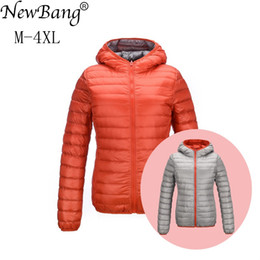 83ea9c9f733 NewBang Brand Down Jackets Women Ultra Light Down Jacket Women Feather  Jackets Double Side Reversible Lightweight Warm Coats