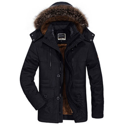 mens military parka NZ - Winter Military Jackets Men Fur Collar Thick Velvet Warm Parka Mens Jackets And Coats Outwear Windbreaker Plus Size 5XL 6XL Coat C18111201