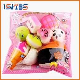 $enCountryForm.capitalKeyWord Australia - 10Pcs Cute Kawaii Soft Squishy Medium Mini Soft Squishy Bread Toys Key Toys Decompression Fun Toys For Child Adult Attention