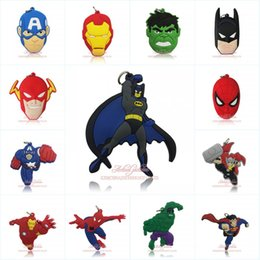 superhero necklaces Australia - Free Shipping Marvel Avengers Superhero Cartoon Figure PVC Pendant Charms Fit For Keyring Necklace Accessories Home Decor Kids Party Gift