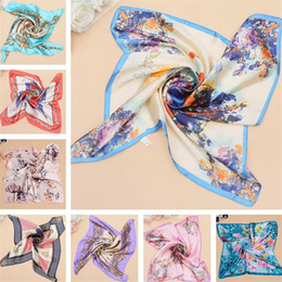 scarves womens spring 2019 - 60*60cm Women scarves Square Silk Scarf ladies scarfs womens scarf for Spring Summer Autumn Winter Woman gift Luxury fas