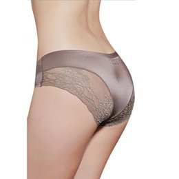 bac1bde903cc Women Lace Sexy Panties Luxury Seamless Solid Underwear Low Waist Woman  Briefs Female Slim Breathable Underpants Dropshipping